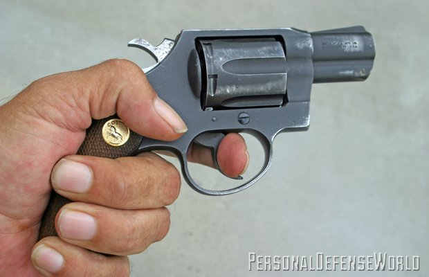 Small doesn't mean inaccurate. Author shot this one-hole group, with S&W Model 340 M&P. Note Lasergrip and XS sights.