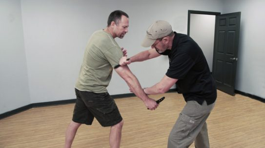 OneUp Knife Defense in action