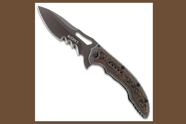 CRKT Fossil Black VeffSerrations   Folding Knife