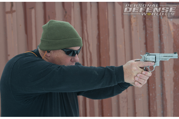 Ruger GP100 Match Champion - On the line