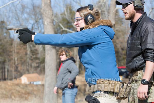training lady aim