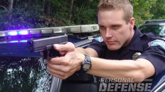 Glock 22 officer beane levels his glock 22