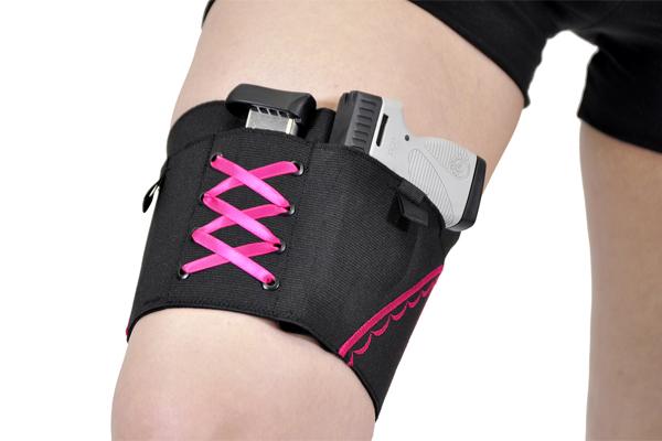 Gun Goddess Classic Thigh Garter Holster | Pink