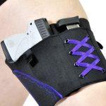 Gun Goddess Classic Thigh Garter Holster | Purple