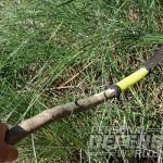 helm forge blades bush sword attached to stick