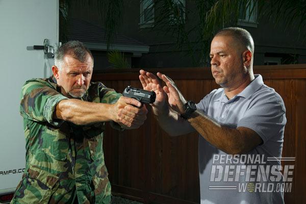 To start, approach from the side to minimize the chance of being seen and fired upon.