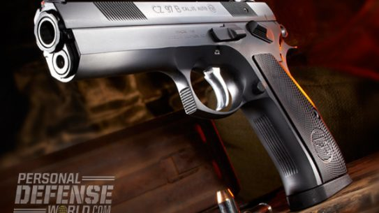 Based on the legendary CZ 75 design, but bolstered to fire heavy-hitting .45 ACP cartridges, the 97 B is reliable, accurate and very easy to manipulate and control.