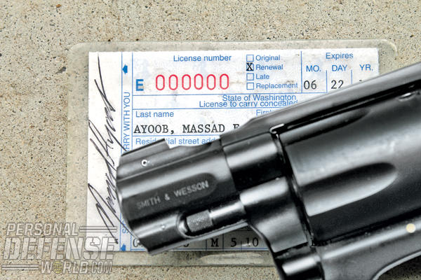 If you have a concealed carry permit, be sure to keep the permit on you while traveling.