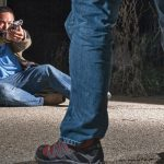 Being knocked down and cornered, the victim is at a position of serious disadvantage, heightening his vulnerability to harm and sometimes warranting an armed response.