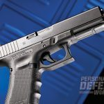 Although the Glock 22 reviewed features the newest cutting-edge Gen4 enhancements, it still possesses the familiar Glock profile and outstanding handling characteristics.