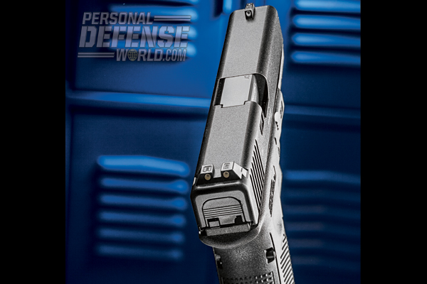 The G22 has a sight radius of 6.49 inches, aiding shooter accuracy.