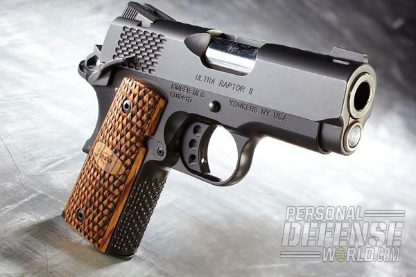 Kimber's Ultra Raptor II provides shooters an ultra-compact carry powerhouse with talon sharp styling. For those who like an edgy look and capable .45 ACP firepower, the Ultra Raptor II is worth a close look.