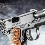 The pistol's lightweight aluminum frame contributes to its easy-to carry weight of 25 ounces.