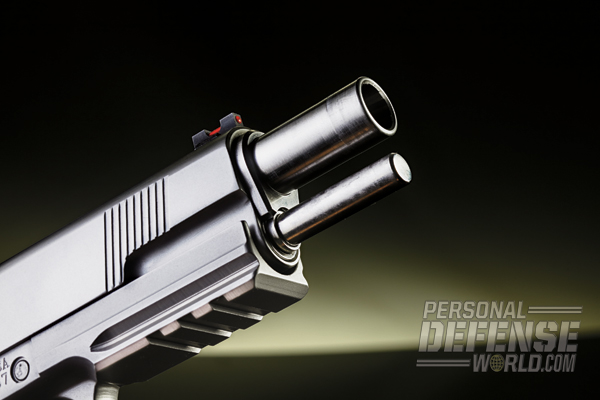 The full-size Gladiator sports a 5-inch, match barrel.