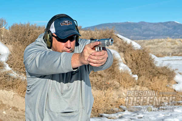 The pistol's high build quality made itself evident during testing.