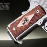 A flared mag well offers both a secure hold and greater ease of reloading.
