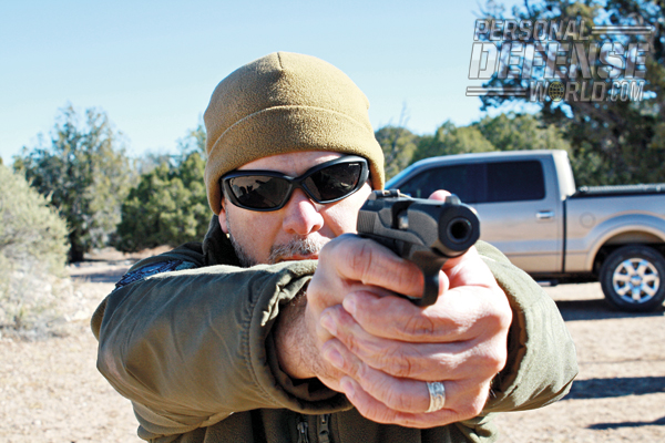 """""""What impressed me most was the gun's recoil impulse. I have never fired any full-sized or compact 9mm pistol with less felt recoil and less muzzle climb than the R51."""""""