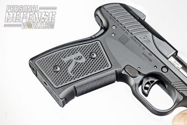 The R51 has a 20-degree grip angle for a natural hold and removable grip panels that allow for user customization.