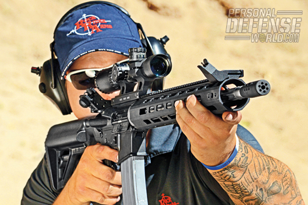 The R3 Competition was accurate off the bench and fast to operate in tactical drills. The muzzle brake assisted in making quick follow-up shots and the handguard was very comfortable to hold.