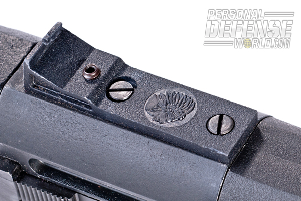 The rear sight is adjustable.