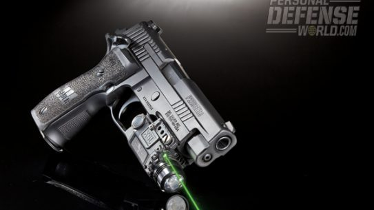Sig Sauer's smooth shooting P226 Elite SAO brings single-action-only capability to one of Sig's most popular full-size platforms. Chambered in 9mm, the P226 Elite SAO measures 8.2 inches overall and features a nicely elongated integrated rail for the mounting of light and laser units like the Viridian X5L green laser/light combo unit.