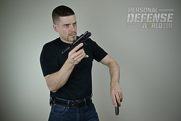 (3) Using your off-hand, rip the magazine from the mag well and throw it to the ground