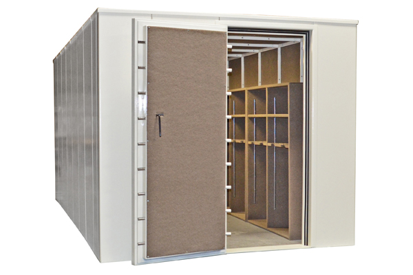 VaultPro USA offers modular safe rooms to fit the space you have available in your home. The standard models are resistant to tornadoes and firearms, and can be customized to protect against nuclear, biological, and chemical threats.
