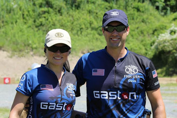 GASTON J. GLOCK style LP sponsored shooters, Brooke and Dave Sevigny