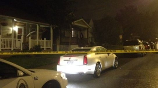 The scene outside of the home invasion on Monday (CREDIT: Valerie Schremp Hahn; St. Louis Post-Dispatch).