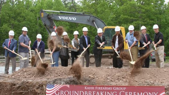 A crowd of over 180 people shared in the celebration on Thursday, May 29th of the official ground-breaking ceremony of the Kahr Firearms Group new headquarters