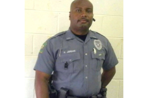 Kevin Jordan (pictured) was killed while removing disruptive patrons from a Waffle House in Griffin, Georgia.