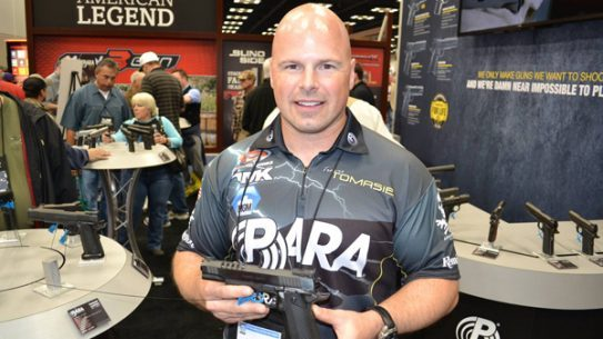 Travis Tomasie showing off the Tomasie Custom at the NRA Annual Meetings and Exhibits. (Photo: Facebook)