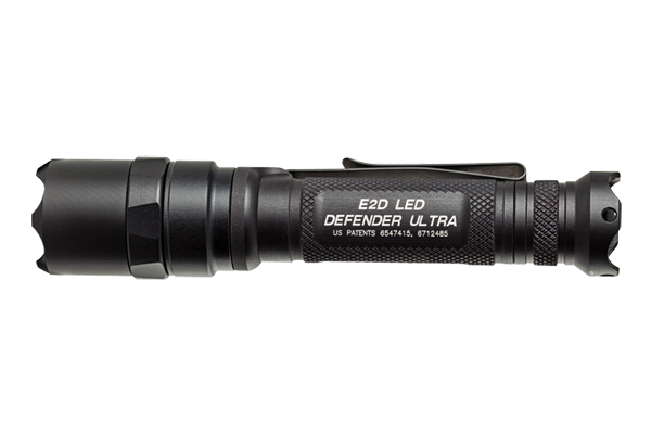 The SureFire E2D LED Defender gives a blinding 500 lumens of light on high with a run-time of 2.25 hours. If you go on a low setting of 5 lumens, the light will last 67.75 hours.