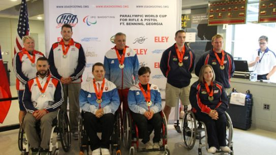 The USA Shooting Team walked away with the bronze medal in the team event of R3 (Mixed 10m Air Rifle Prone SH1) at the IPC World Cup. (Photo Credit: Flickr, USA Shooting)