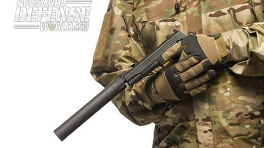 Remington's 1911 R1 Enhanced Threaded Barrel & AAC's Ti-RANT suppressor.