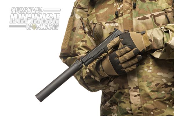 Remington's 1911 R1 Enhanced Threaded Barrel & AAC's Ti-RANT suppressor.