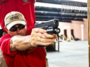 Sergeant Jim Crist, range-master for the Norfolk Police Department, led the efforts to transition to the GLOCK 21 .45 AUTO.