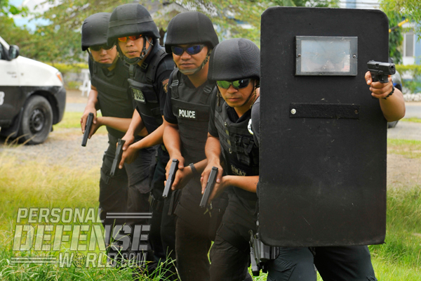 The PNP's special operations team, the SAF, uses their GLOCKs while training for hostage-rescue and active-shooter events, just like their American counterparts.
