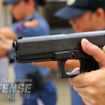 Made up of only 34 parts, the simply designed and easy-handling GLOCK autopistol allows the shooters to concentrate on what's happening before their front sight, not on what's in their hands.