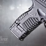The extended seven-round magazine gives the XD-S 45 4.0 an extra inch of grip length.