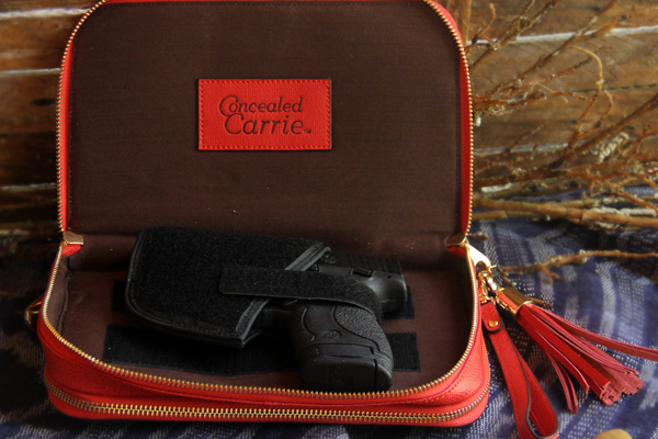 Concealed Carrie: Bright Red Leather Compact Carrie