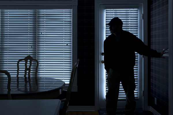 A Pennsylvania apartment resident used a shotgun to defend himself against two home invaders.