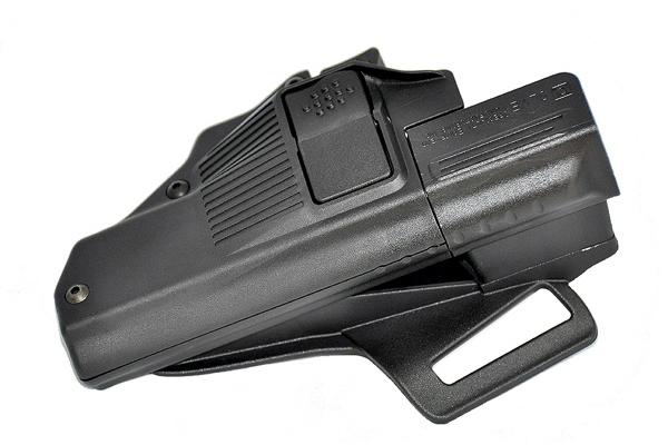 SLVE's safety holster for Glock pistols.