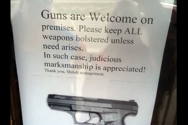 Shiloh Brew and Chew in Maryville, Tennessee is doing big business after posting pro-carry signs. (Photo: WBIR)