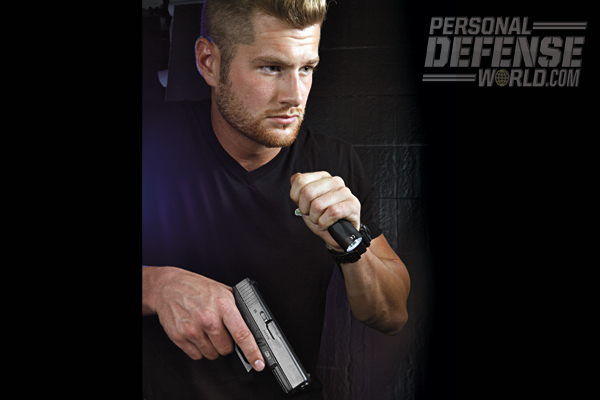 Flashlights are tools that double as a non-lethal weapon that can help ferret out bad actors, and if push comes to shove, the blast of white light can provide a moment to escape, and the bezel can hammer down on an attacker.