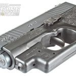 Crimson Trace LaserGuard fits snugly to the CM9's frame.