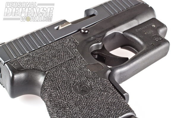 The full stippling provides a great grip without tearing up your hand.