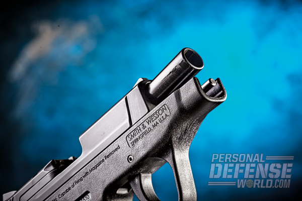 The compact Bodyguard's barrel measures 2.75 inches.