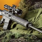 """""""Despite testing with three different ammunition types, with bullet weights ranging from 165 to 180 grains, the rifle functioned flawlessly with everything on the factory setting."""""""