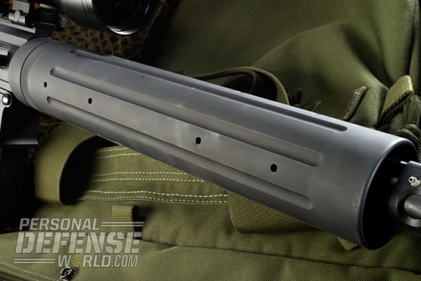 The handguard allows for a free-floating barrel, essential for accurate AR-15s.